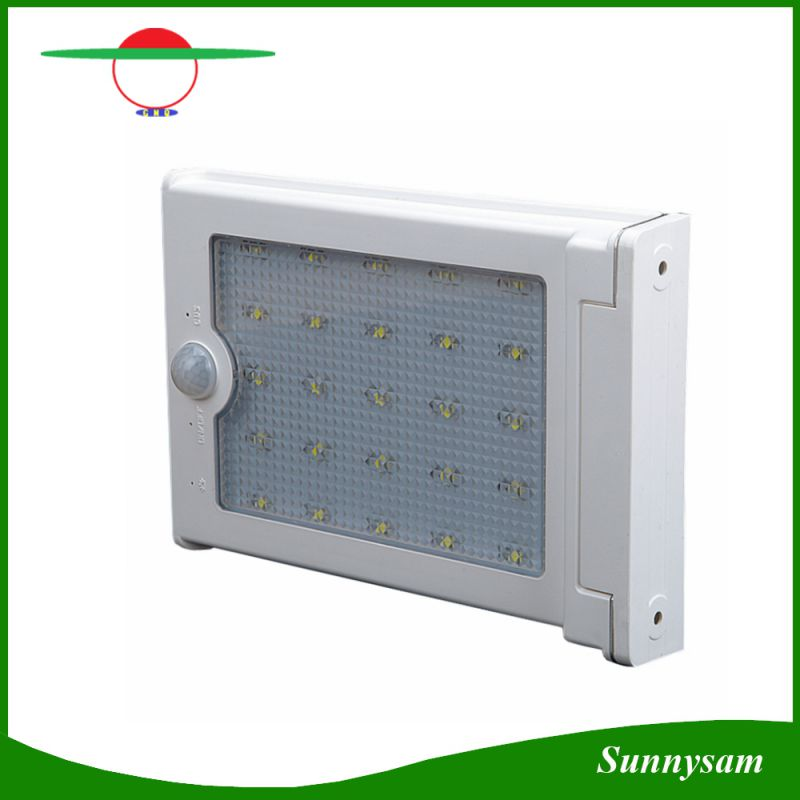 Solar Powered Panel 25 LED Street Light Solar Motion Body Sensor Light Outdoor Garden Path Spot Light Wall Lamp Luminaria