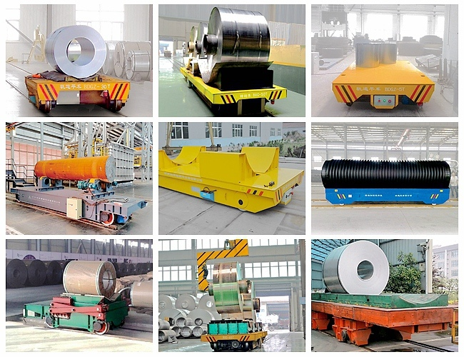 on Rail Handling Trolley Coil Transfer Carriers with Safe Device