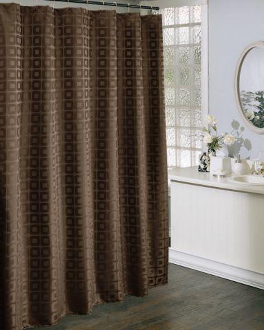 Coffee Color Bathroom Curtain St1503