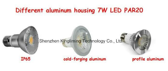 ETL 7W LED PAR20 Spotlight 600lm COB Design