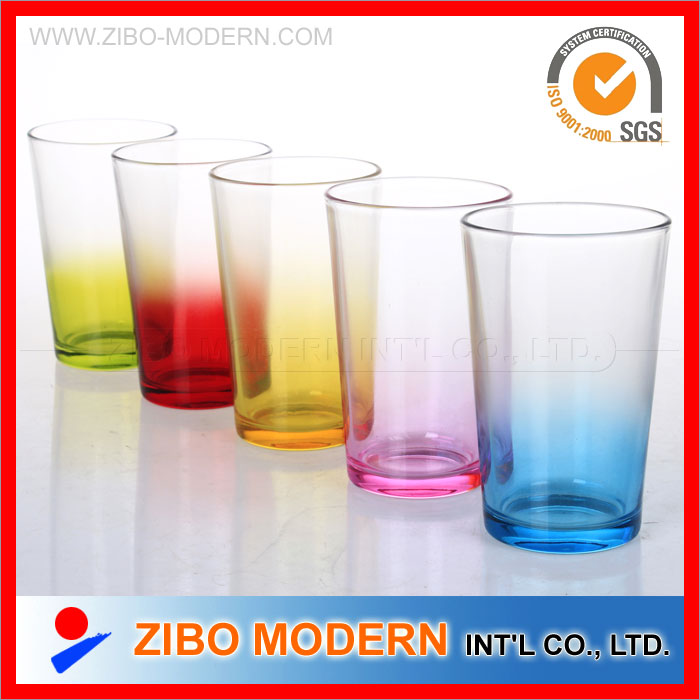 Coloured Drinking Glass