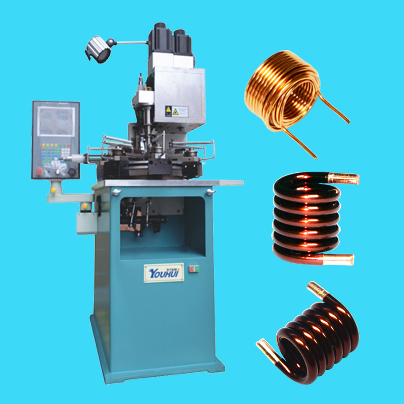CNC Multi Axis Bobbinless Coil Winder for Heavy-Duty Air Core Coils by Round Wires