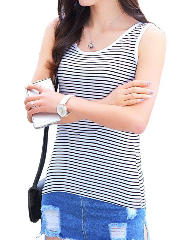 Women's Cheap Custom Striped T Shirt Wholesale