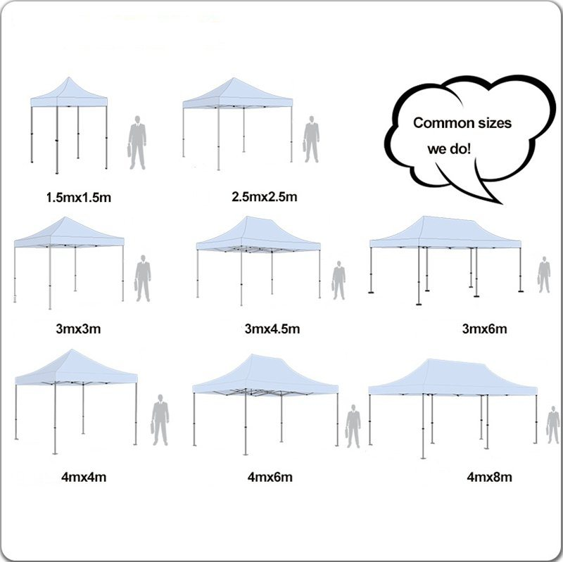 3X6m Steel Party Canopy Tent Folding Gazebo for Outdoor Event
