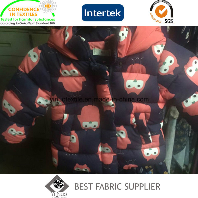100 Polyester 300t Taffeta Children's Down Jacket Printed Fabric China Supplier
