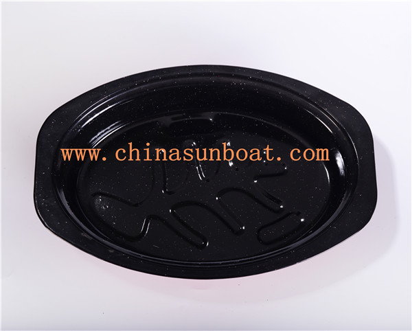 Sunboat Oval Enamel Casserole Roaster Oven Baking Pan Kitchenware/ Kitchen Appliance