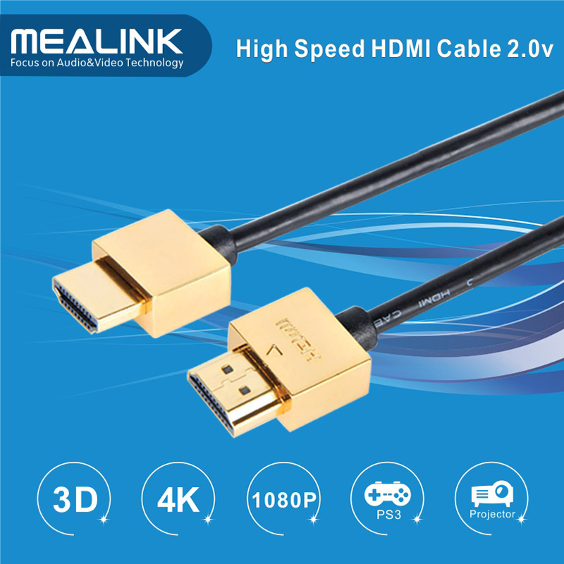 Ultra-Slim HDMI V1.4 Cable, Support 4k, 3D