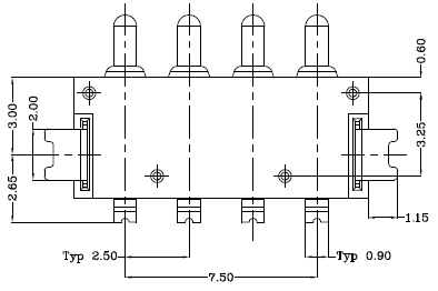 Spring Loaded Pogo Pin Connector with 30mohm Maximum Contact Resistance