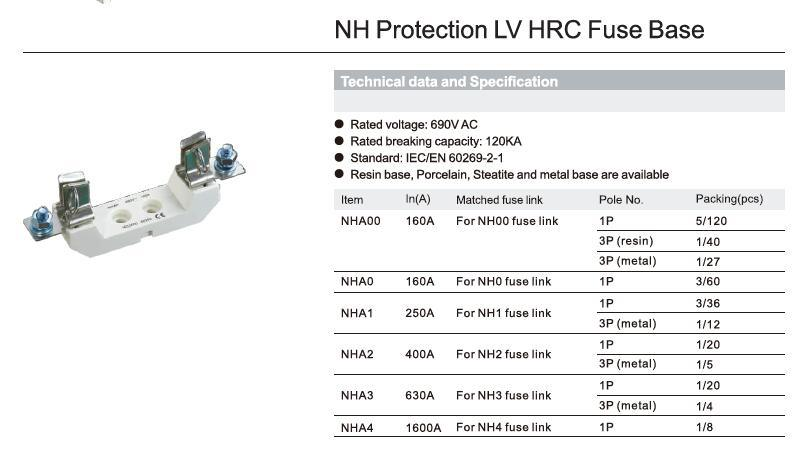 Nh Protection LV HRC Fuse Base