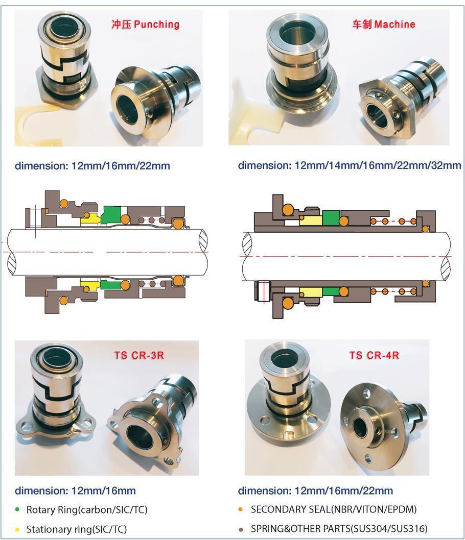 Pump Seal Cr, Big Flange Cr, Mechanical Seal for Grundfos