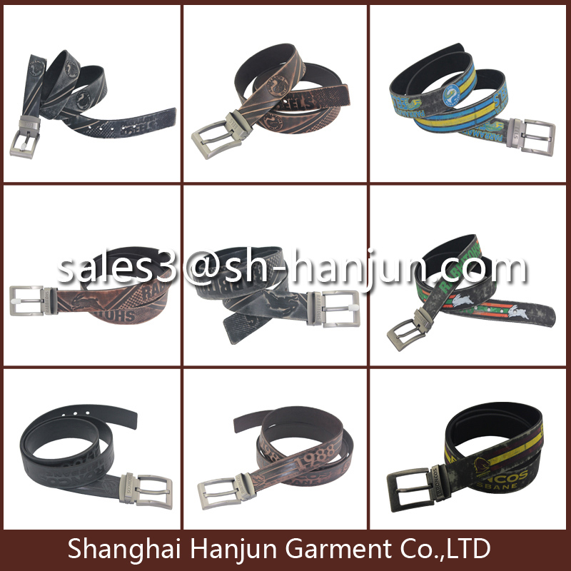 Men's High Quality Emboss Leather Belt