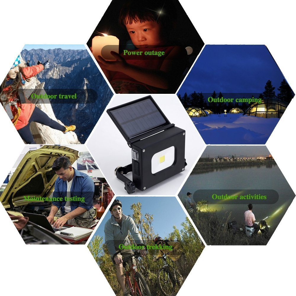 Solar Camping Light USB Rechargeable Hand Lamp Collapsible Tent Lantern