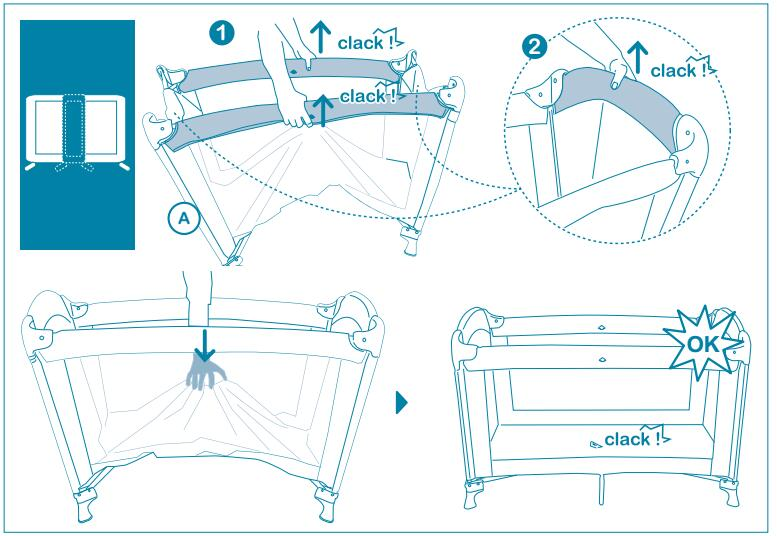 Hot Sale Baby Crib with Baby Entrance