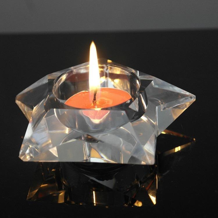 Exquisite Crystal Candlestick Wedding Decoration