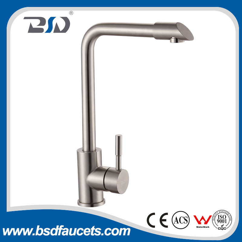 Commercial Stainless Steel Single Handle Single Hole Kitchen Sink Faucet