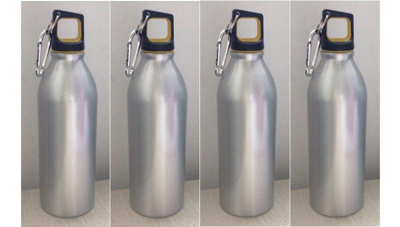 500ml 600ml Hot Selling Aluminum Sports Bottle, Stylish Customize Sport Metal Bottle With Carabiner