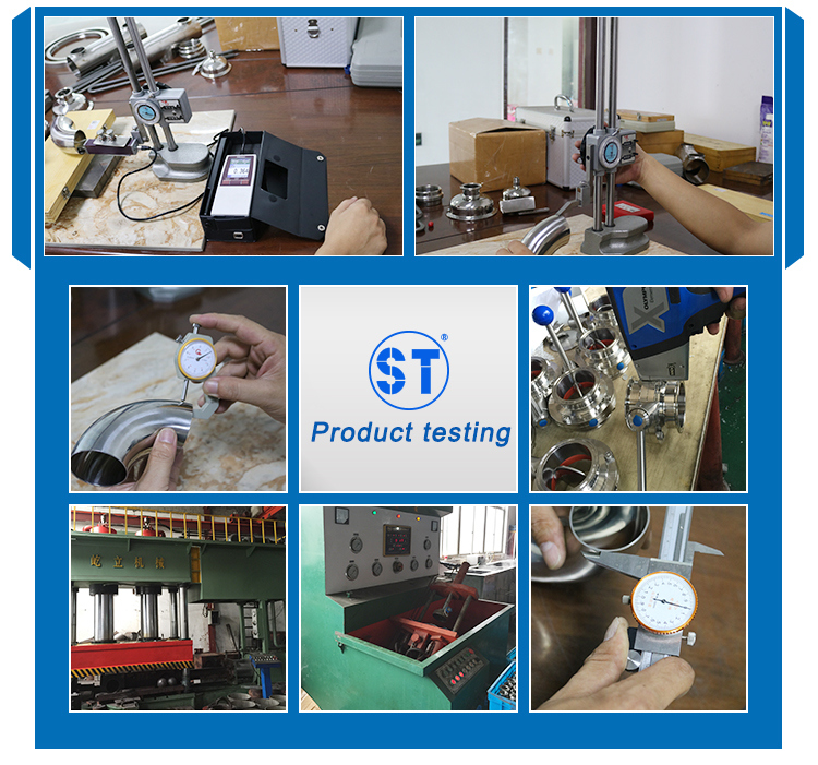 Sanitary Stainless Steel Manual Electric Pneumatic Operated Clamped Welded Threaded Butterfly Valve