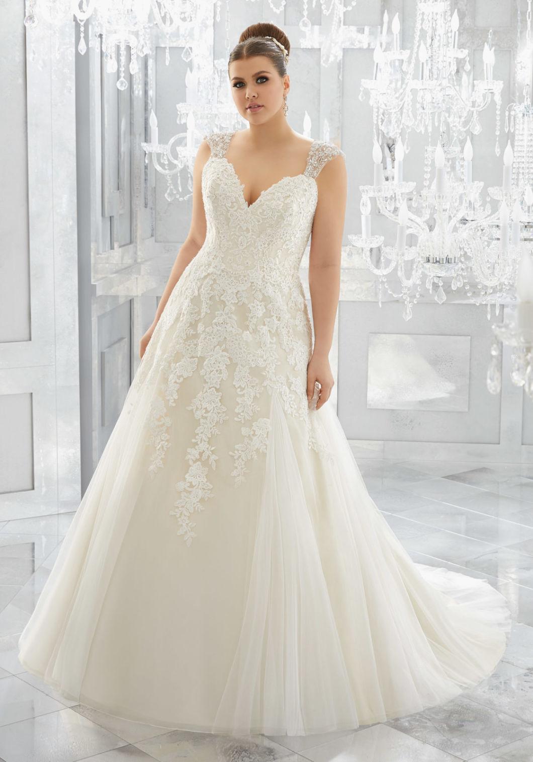Lace Bridal Gowns Plus Size Tulle A-Line Wedding Dresses Z201612