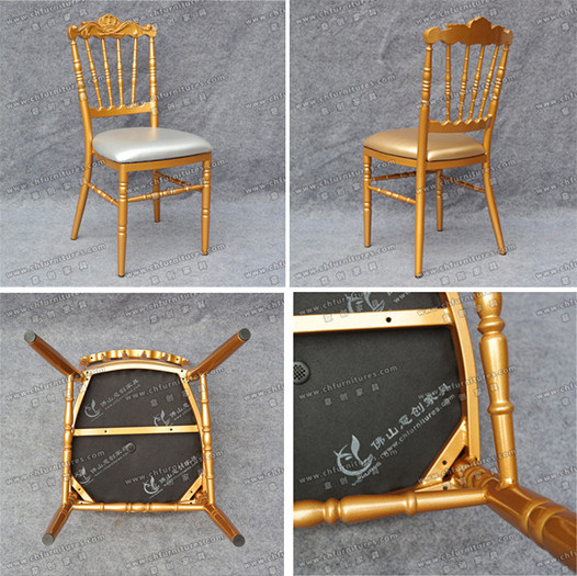 New Style Wholesale Gold Wedding Royal King Throne Napoleon Chair for Event and Restaurant (YC-A08G)