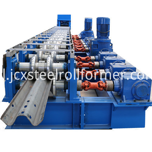 Highway W Beam Fence Tworząc Machine Crash Barrier Roll Forming Machine