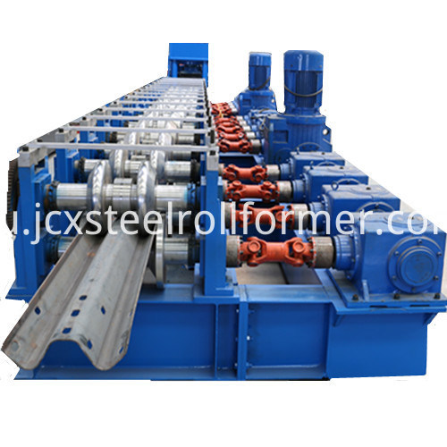 Highway W Beam Fence Forming Machine-Crash Barrier Roll Forming Machine