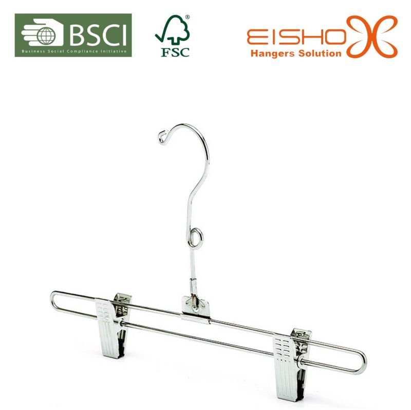 Chrome Metal Hanger with Clips for Skirt