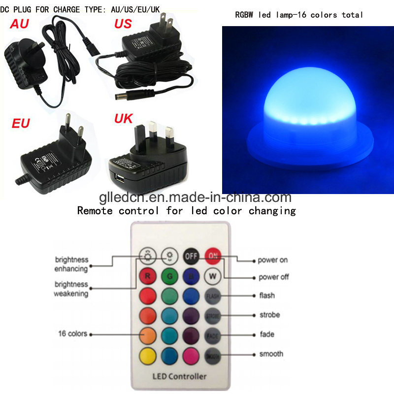 LED Furniture Highboy Plastic RGB Hotel Bar Stool for Sale