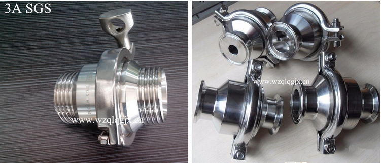 Hygienic Sanitary Stainless Steel Air Blow Non Return Check Valve