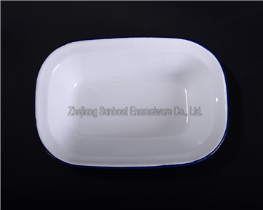 Enamel Square/Rectangular Butter Dish