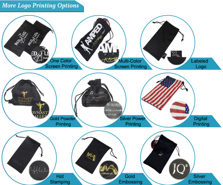 Custom Double Side Pull Microfiber Phone Pouch
