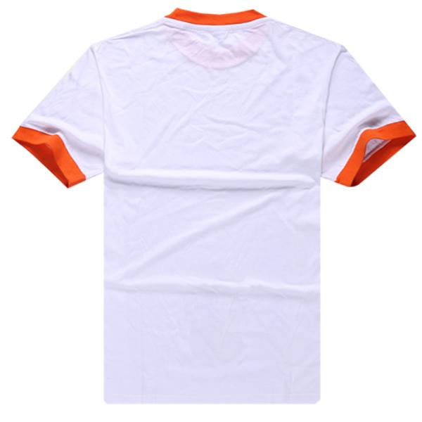 Contrast Collar & Cuffs Plain Uniform T Shirt