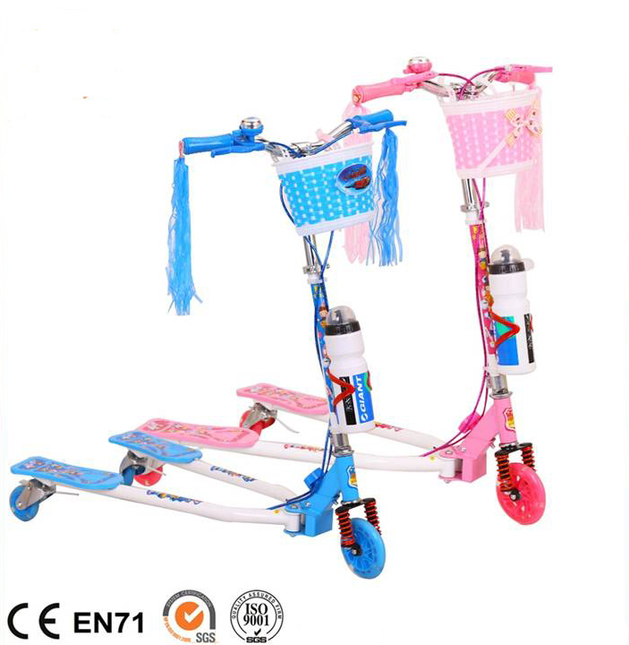 2017 New Model Kids Kick Scooter with Basket and Music