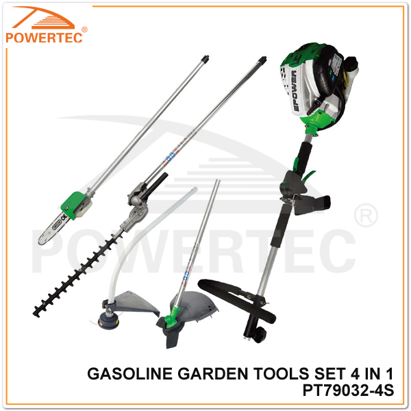 Powertec 4-Stroke 4 in 1 Garden Tool Set (PT79032-4S)