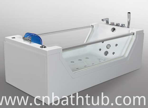 2015 New Style CE Approved Glass Jacuzzi Massage Bath Tub (JL824)