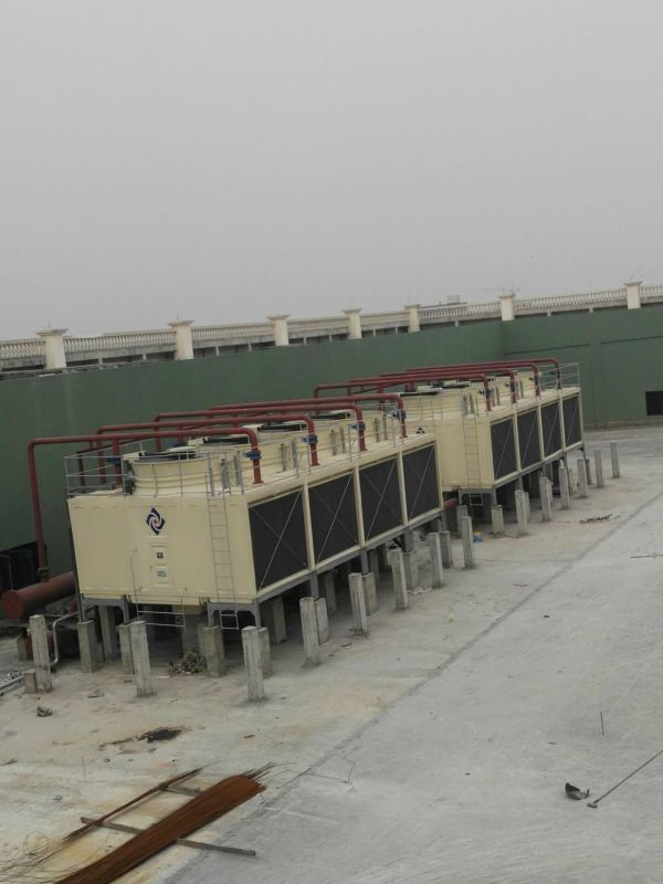 Multi Cells Rectangular FRP Cross Flow CTI Cooling Tower with High Performance