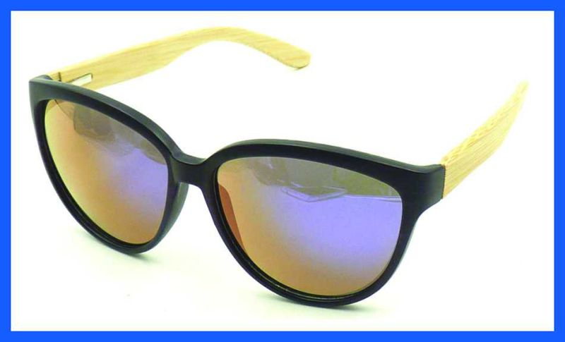 Fqpw16979 Good Quality Bamboo Arms Sunglasses Classcial Style