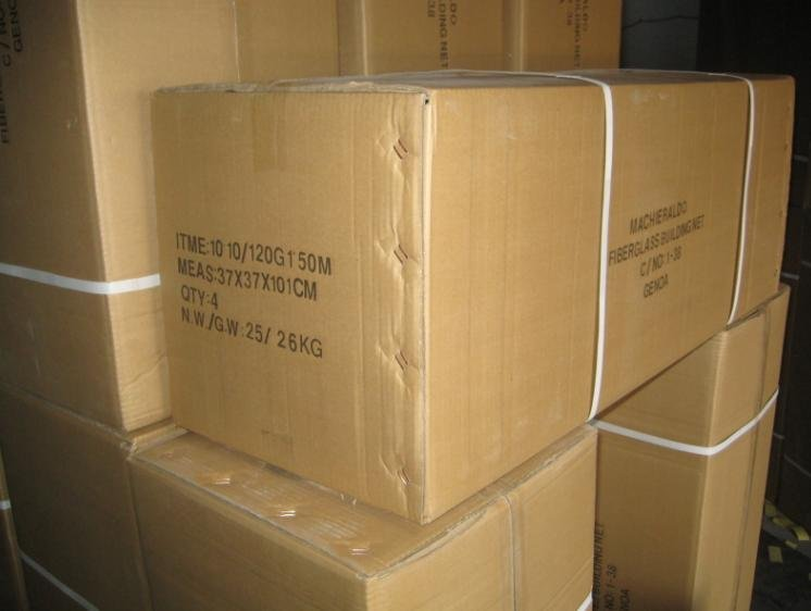 carton package fiberglass cloth