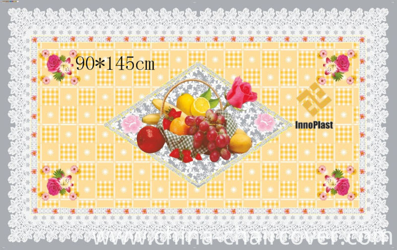 90*145cm All in One Independent Design Transparent Printed Tablecloth