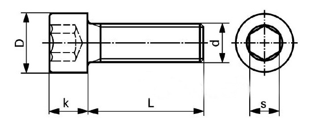 DIN7991 Cl. 8.8 Black Oxid Hexagonal Socket Countersunk Head Cap Screw