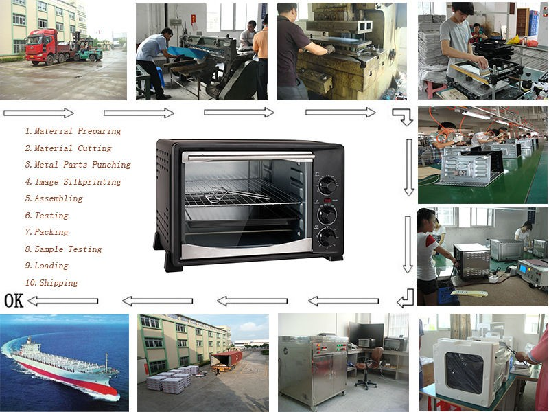 100L Luxury Stainless Steel House Electirc Oven for Kitchen Appliance