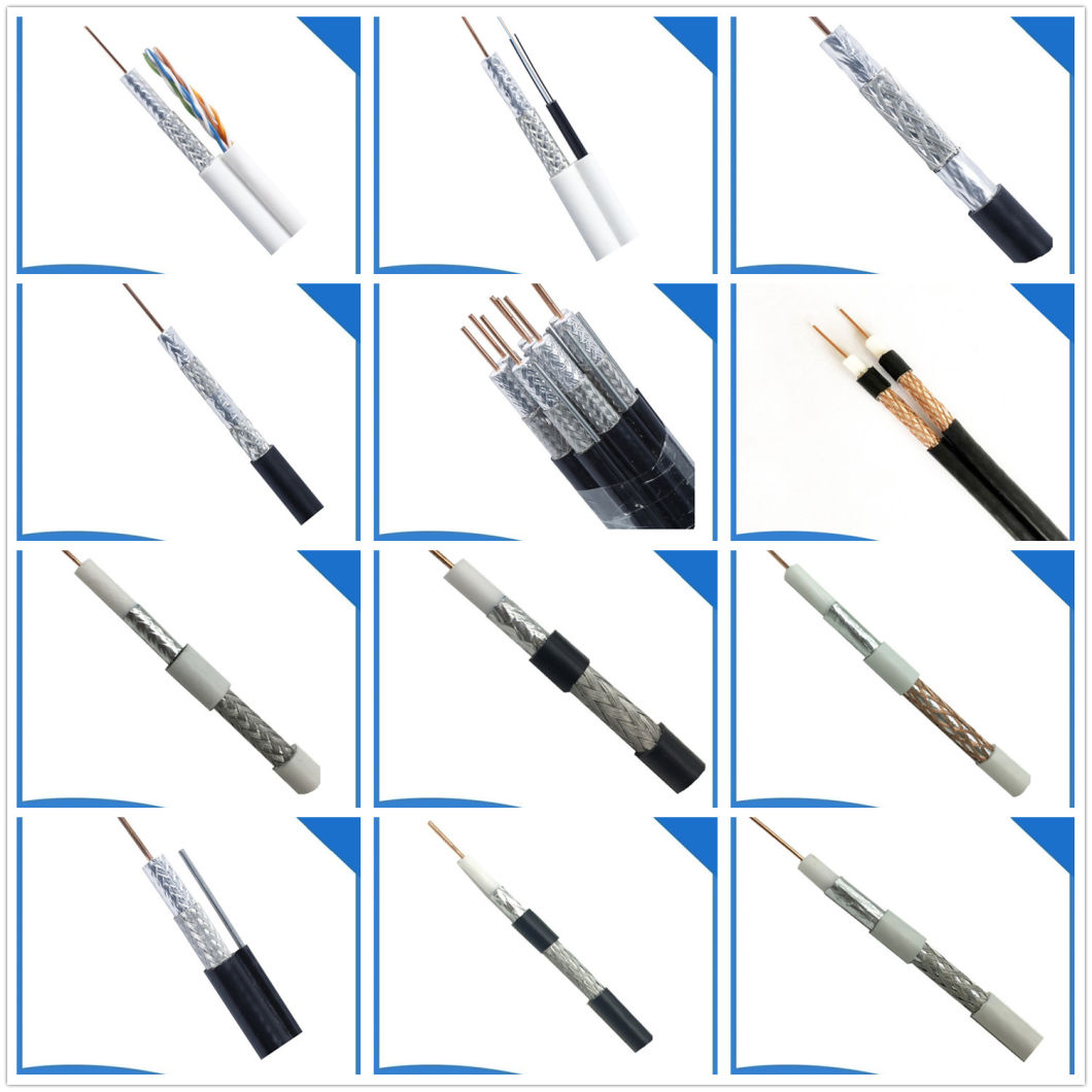 Audio Video RG6 Coaxial Cable RG6/U Transmission Signal for TV Satellite Dish Antenna Cable
