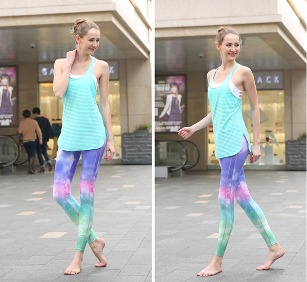 China Good Price 180GSM 85% Polyester 15% Spandex Sublimation Womans Custom Workout Wear Yoga Pants with ISO Certification