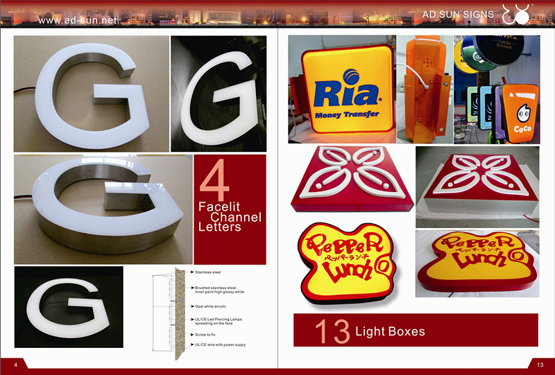 Non-Illuminated Brushed and Polished Metal Stainless Steel Letter for Advertising Sign Letters