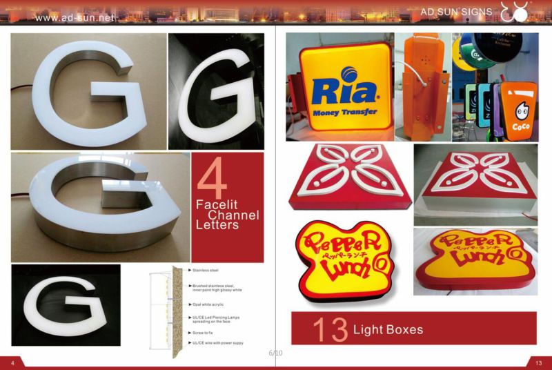New Custom LED Channel Letter Signboard Bulb Letter Sign
