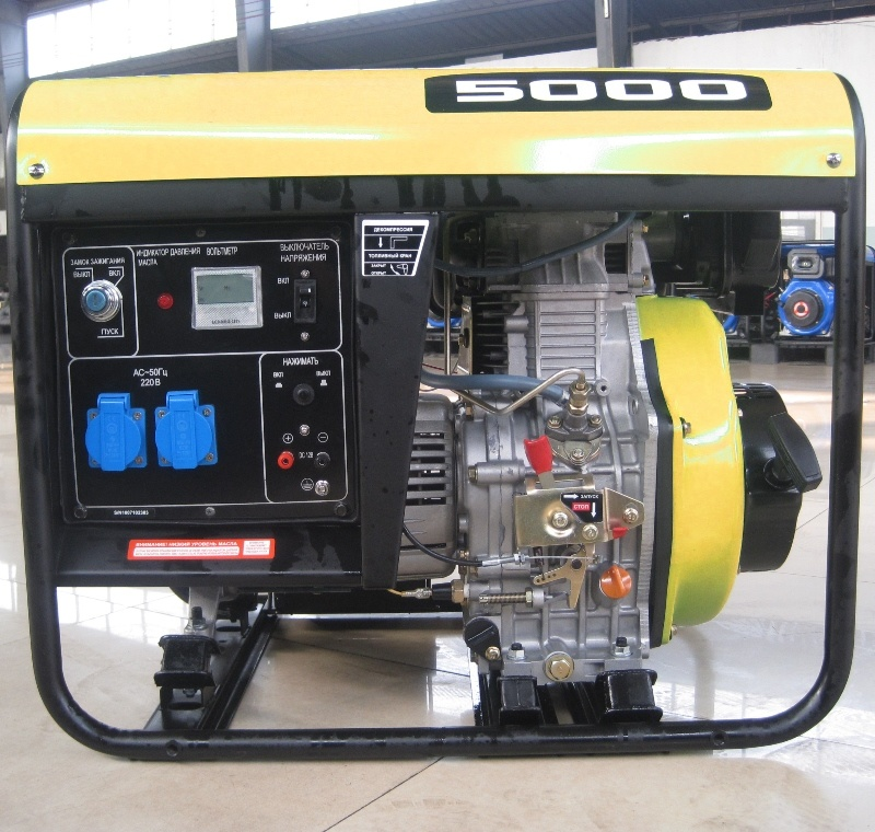 Air Cooled (2kw 3kw) Small Diesel Engine Single Cylinder Portable Power Generator
