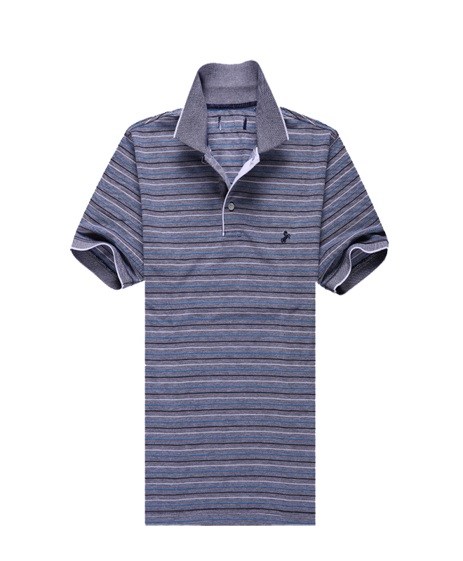 Custom Design Men's Basic Striped Polo Shirts