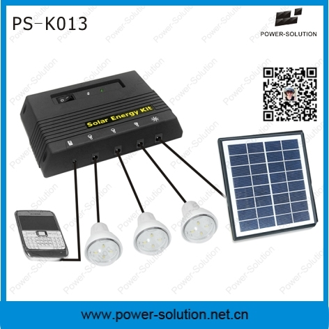 3 Bulbs Solar System with USB Charging Mobile Phones