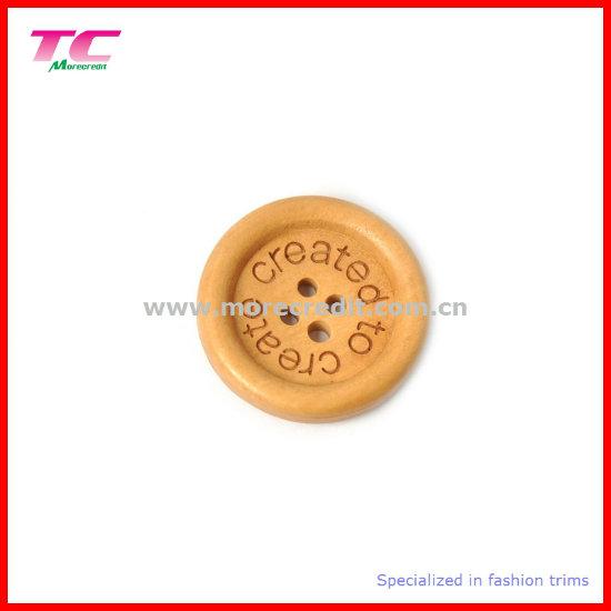 10mm Flat Edge Wooden Button