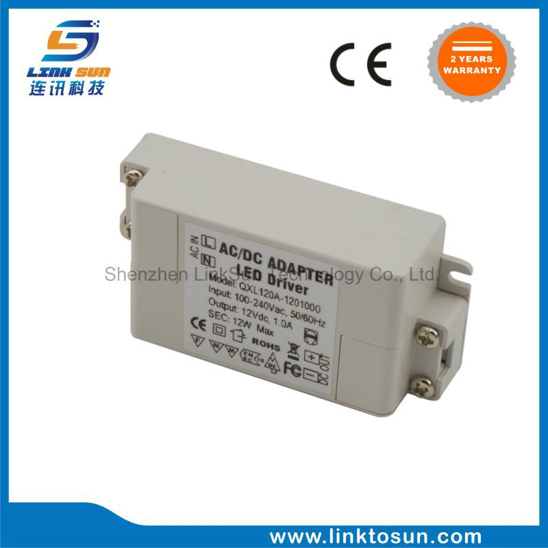 12V 1A 12W Waterproof Switching Power Supply for LED Module