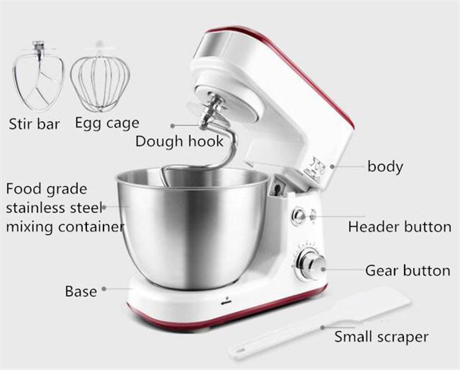 Food Stand Mixer Multifunctional Dough Kneader Egg Mixing Mini Stand Mixer